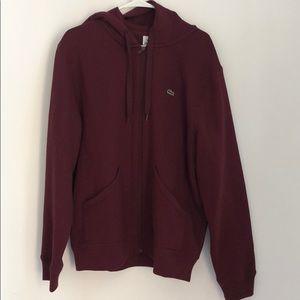Lacoste zip up hoodie